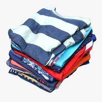 pile folded t-shirts 3D model