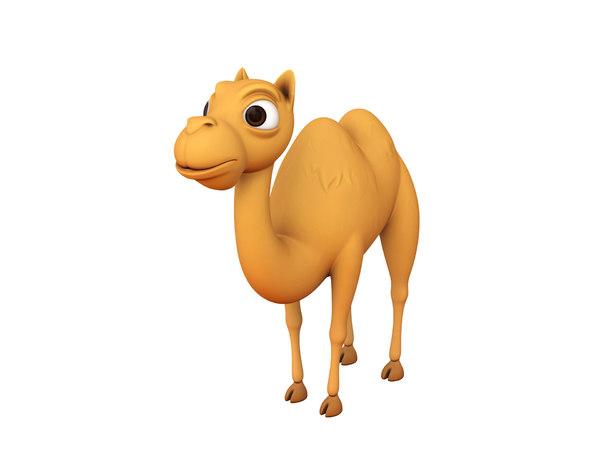 camel character cartoon 3D model