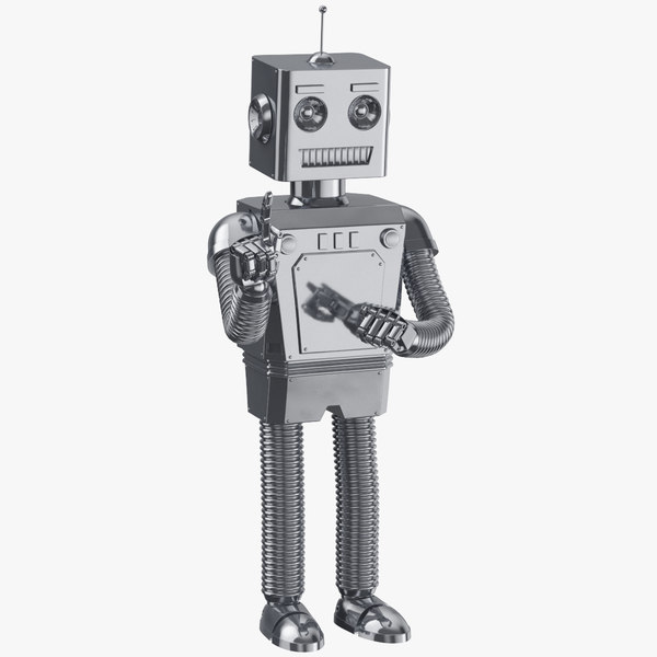 3D robot 01 attention clean