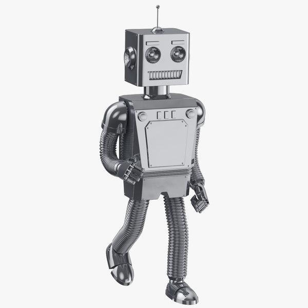3D robot 01 running clean model
