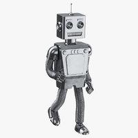 robot 01 running 3D model