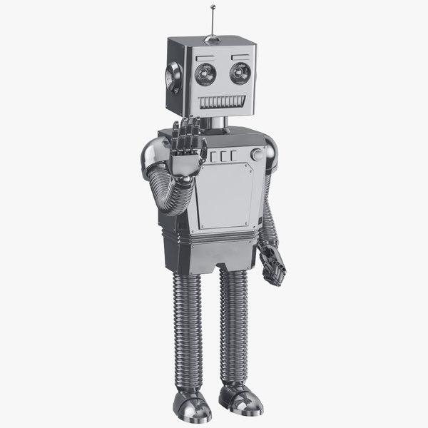 3D model robot 01 waving clean