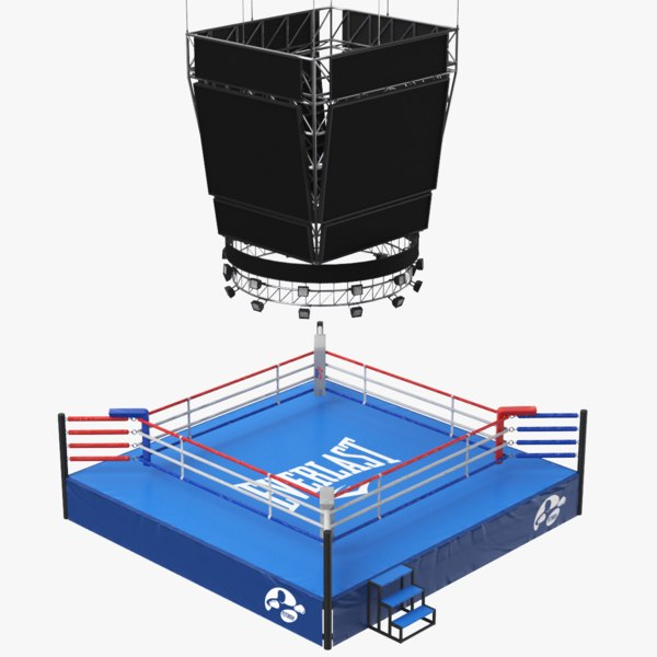 real boxing ring 3D model
