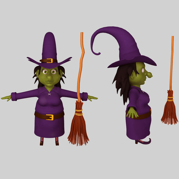 witch cartoon 3D