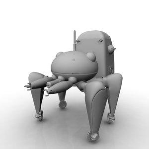 3D model tachikoma robot