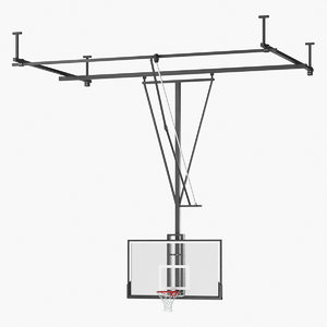 realistic basketball hoop 3D model