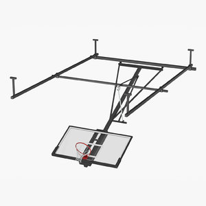3D realistic basketball hoop ceiling model