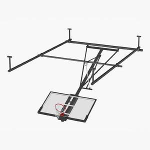3D realistic basketball hoop ceiling model