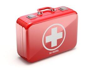 3D aid kit case model
