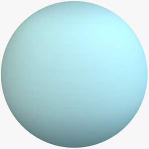 3D planet uranus model