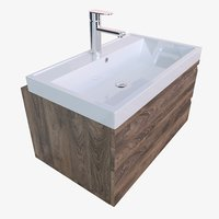 3D model bathroom vanity washbasins