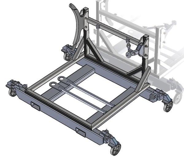 jet engine stand 3D model