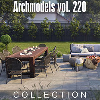 archmodels vol 220 outdoor furniture 3D model
