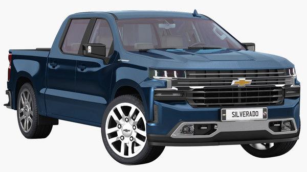 3D chevrolet silverado 2019 interior model