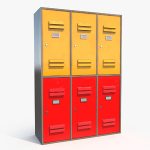classroom school locker 3D model