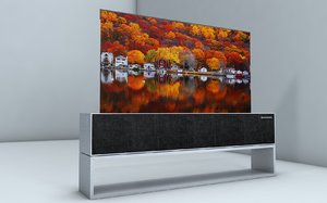 lg rollable oled tv model