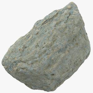 3D rock small 02 model