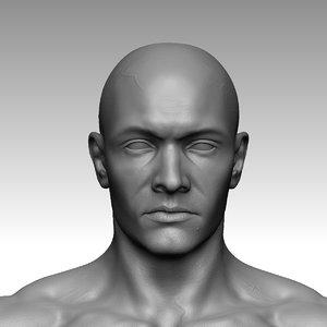 3D photorealistic male character sculpt