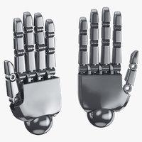 robot hands 01 open model