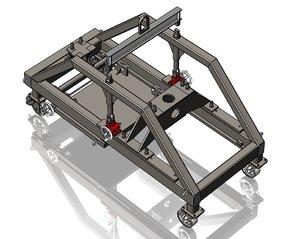 3D screw jack cart model
