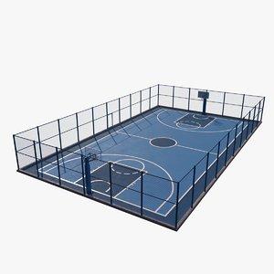 3D basketball court outdoor