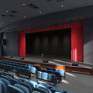 assembly theatre hall interior 3D model