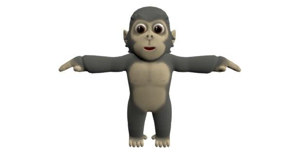 cute gorila 3D model