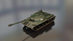 3D stalin js 3 military tank