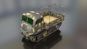 3D steyr military tractor
