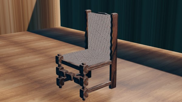 chair kitchen 3D