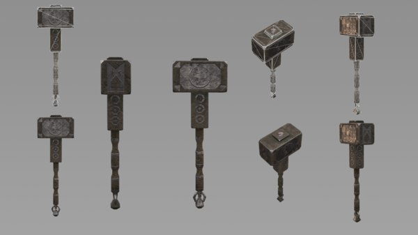 hammer battle 3D model