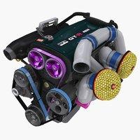 3D parts nissan rb28 hks