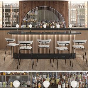 bar alcohol 3D model