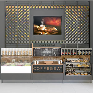 cafes coffee 3D