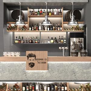 3D alcohol bar