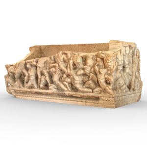 3D ancient sarcophagus 2 decoration