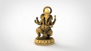 ganesha statue god model
