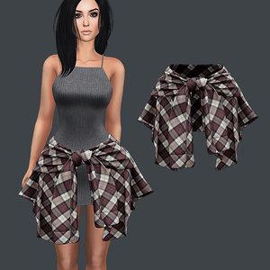 knitted dress hip 3D