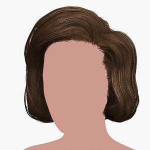3D hairstyle 39 hair model