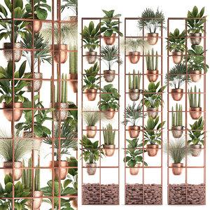 3D vertical garden plants