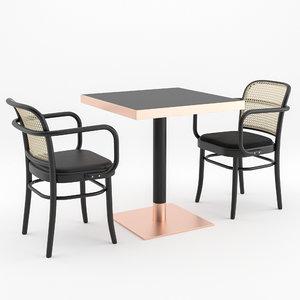 chair n 811 coffee table 3D
