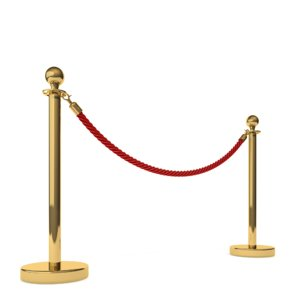3D stanchion divider gold