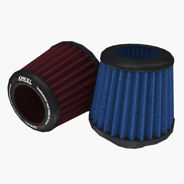 3D conical air filter pack model