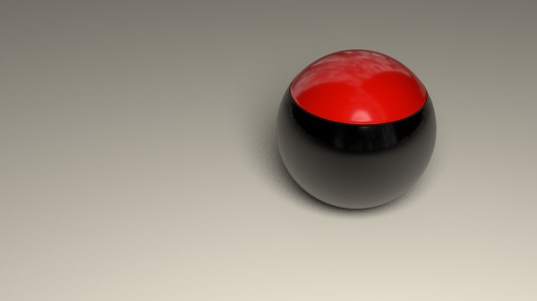 3D model ball morphing wine glass