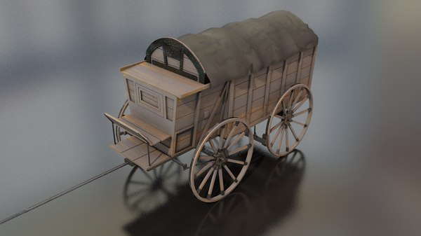german supply military wagon 3D