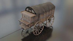 german supply military wagon 3D