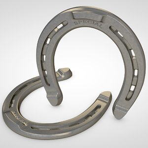 3D horseshoe horse shoe