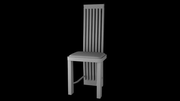 3D modern dining room chair model