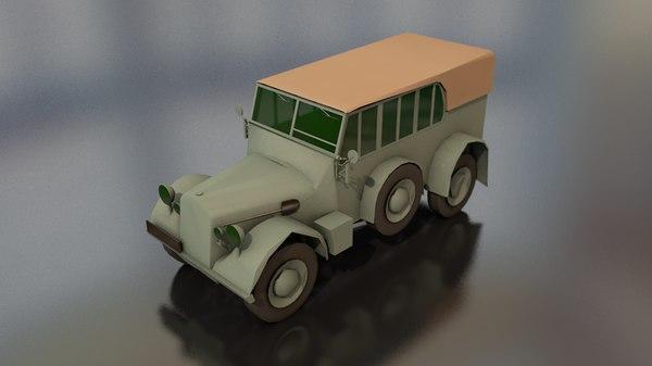 3D horcher military vehicle