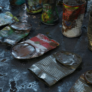 cans food 6 types 3D model